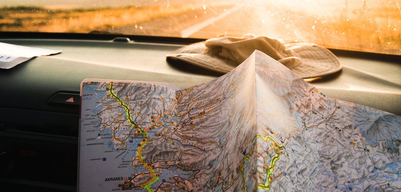 A map symbolizing a journey.