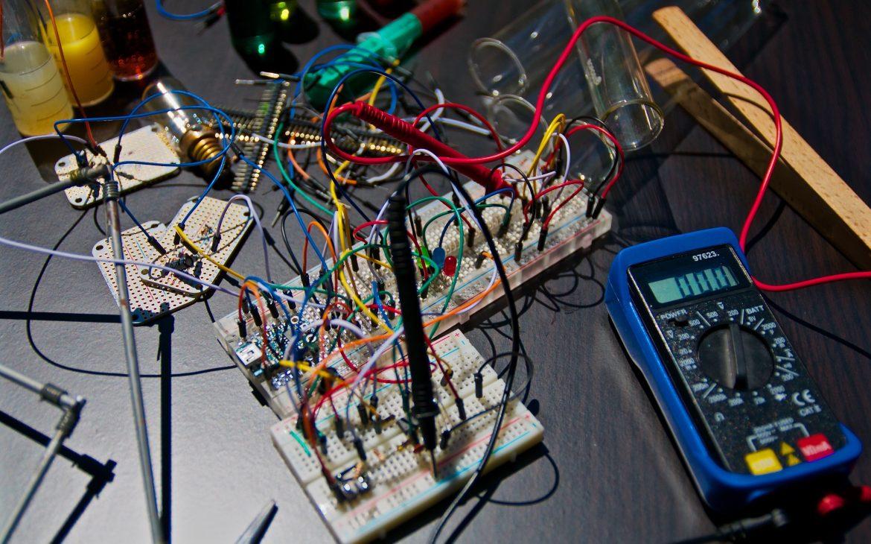 messy circuit board