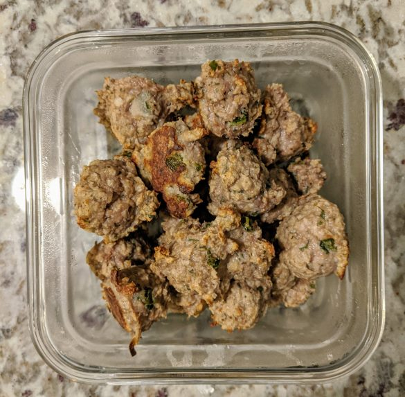 No added sugar Cilantro Lime Meatballs