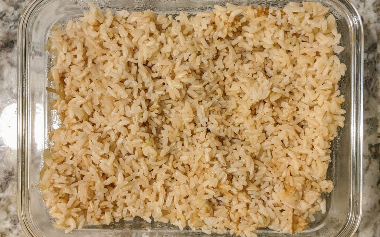 No added sugar brown rice