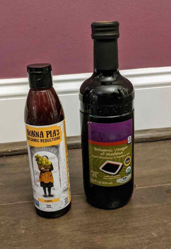 balsamic vinegar and balsamic glaze