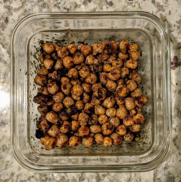 No added sugar roasted chickpeas