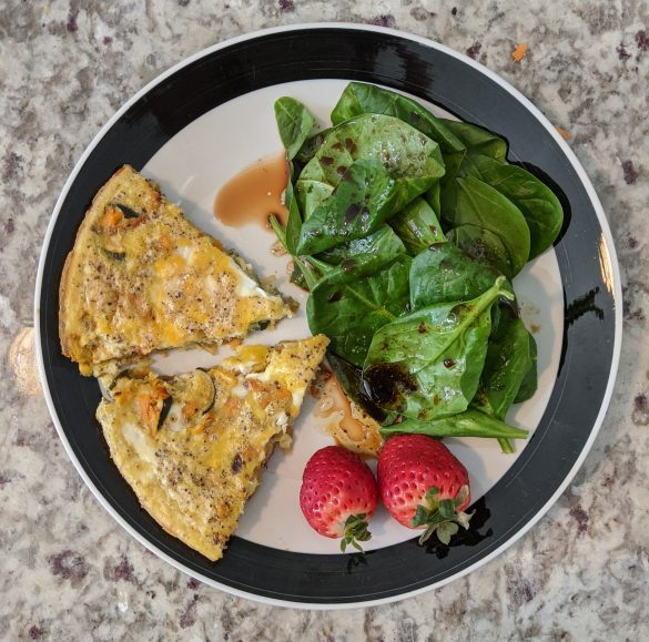 No added sugar One Pan Vegetable Frittata With Fresh Greens