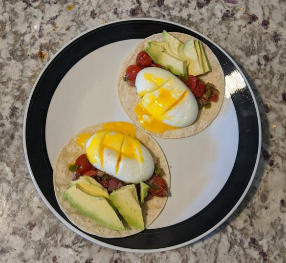 No added sugar egg breakfast tacos