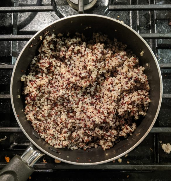 No added sugar cooked quinoa