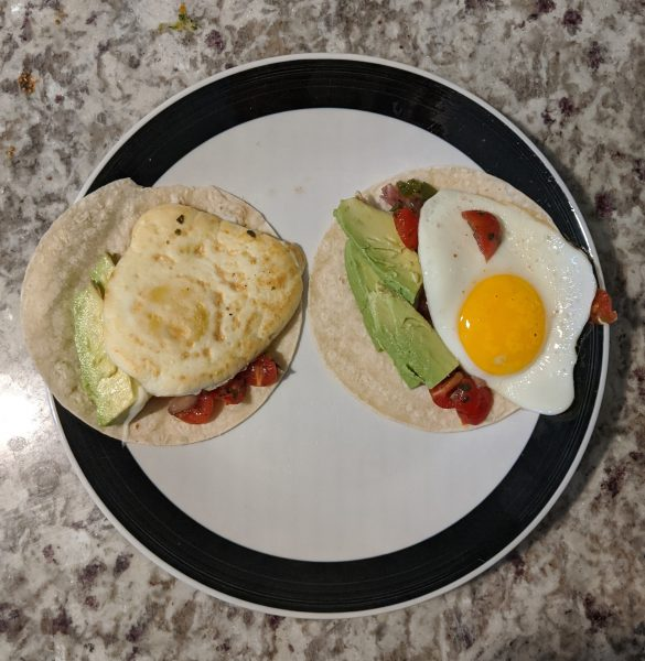 No added sugar fried egg breakfast tacos